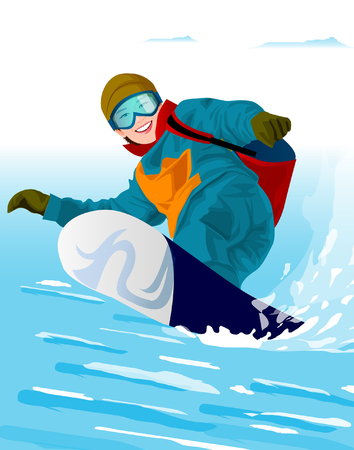 Low angle view of a woman snowboarding