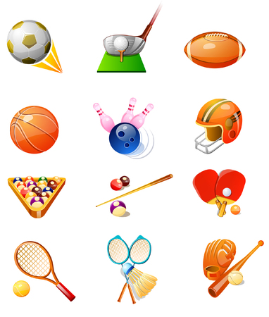 Different types of sports favors Illustration