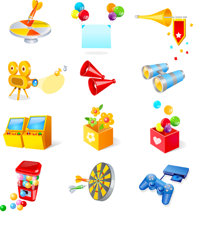 Various entertainment objects Illustration