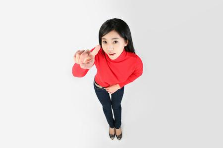 Asian students- Isolated on studio shot