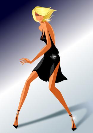 computer club: Woman dancing on the floor