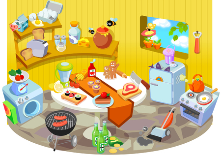 Various household objects Illustration