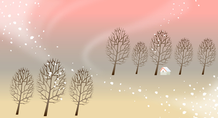 Schneien über eine Landschaft Standard-Bild - 78588049