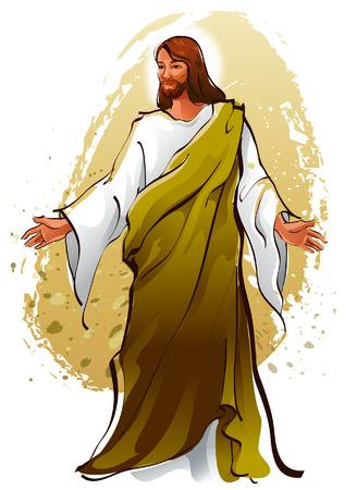 Jesus Christ blessing Иллюстрация
