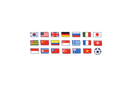 Close-up of international flags