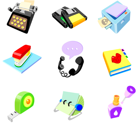 fotocopiadora: Close-up of a group of office supply objects