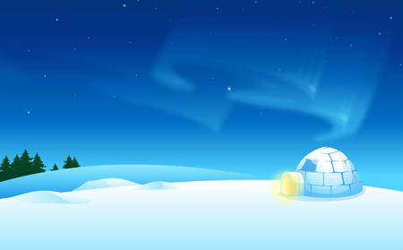 Igloo on a landscape Illustration