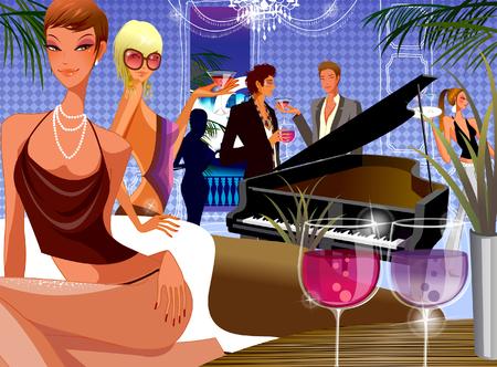 computer club: Men and women enjoying in a nightclub