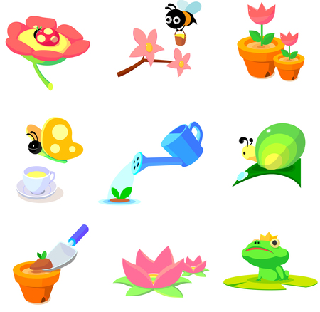 lily pad: Flowers and animals found in garden