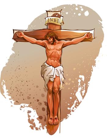 clavados: Jesucristo clavado en la cruz