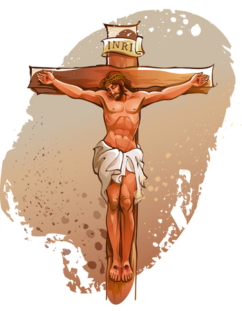 capital punishment: Jesus Christ nailed on the cross Illustration