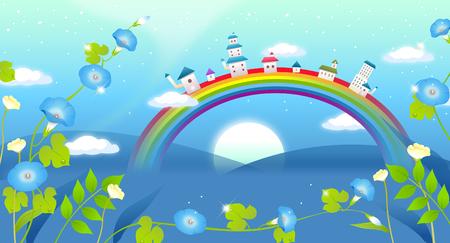Buildings on a rainbow