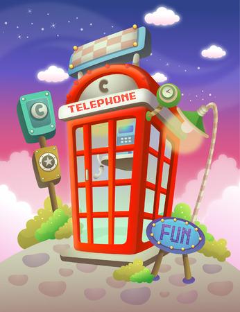 cabina telefonica: Primer plano de una cabina telefónica