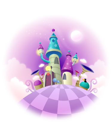 Low angle view of a castle Ilustrace