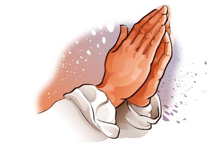 기도하는 사람의 손의 근접 촬영