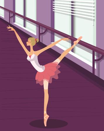 stage costume: Ballerina in tutu dancing