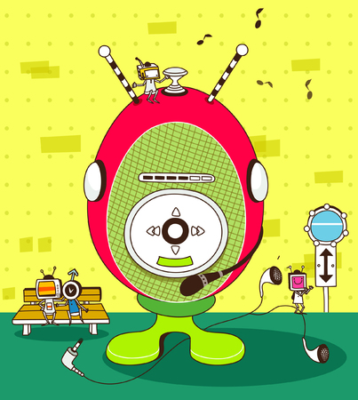 Close-up of an MP3 player Illustration