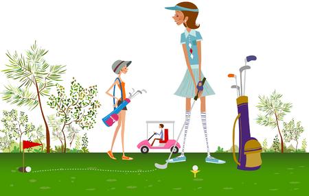 골프를 치는 여자