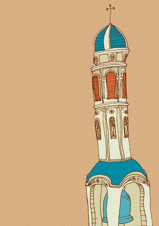 View of church against sky Ilustração