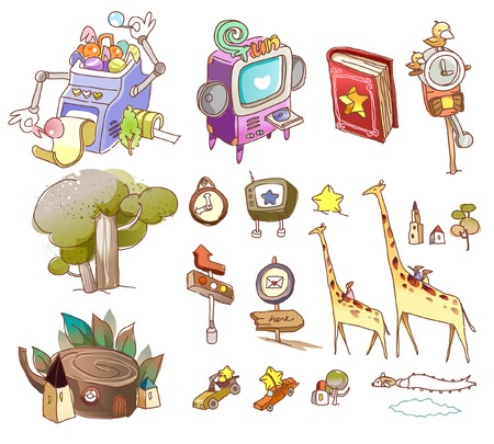Variation of objects displayed against white background