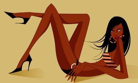 Primer plano de una mujer en un traje de baño Foto de archivo - 78668466