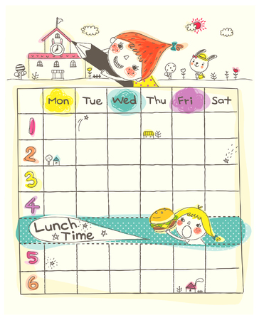 Girls playing by school and timetable
