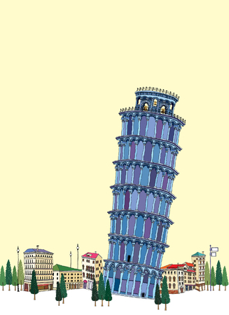 Leaning Tower by clear sky
