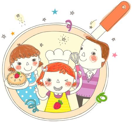 Portrait of family Illustration