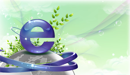 Internet Explorer symbol over the Globe