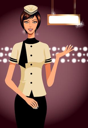 portrait of air hostess