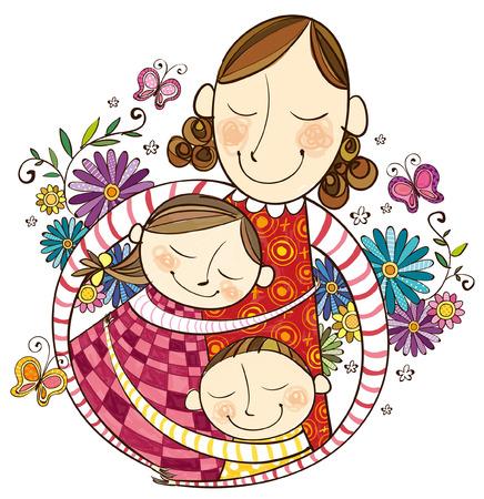 Madre amor por sus hijos Foto de archivo - 78834828