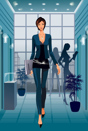 formalwear: Portrait of business woman