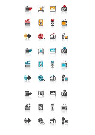 Media Icon Ilustração