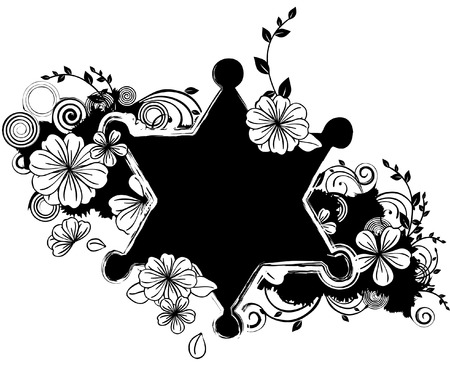 Star shape with flora design