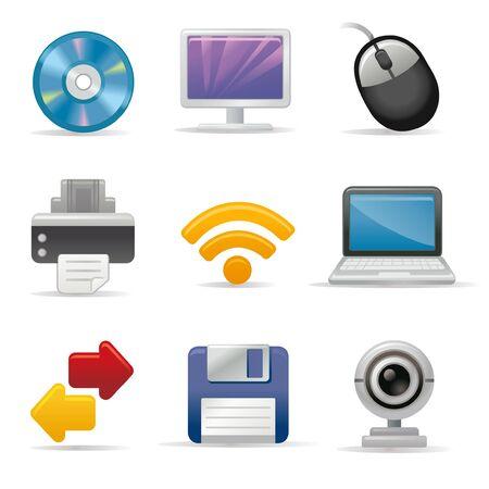Input and output device icon set Ilustração