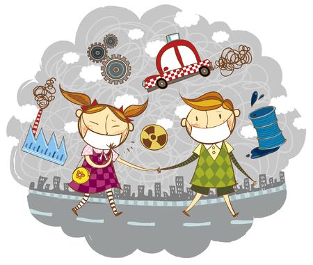 Luftverschmutzungseffekt Standard-Bild - 78834076