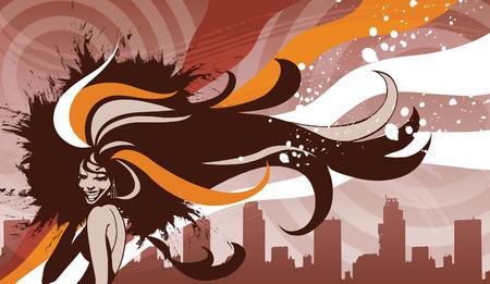 Retrato de pelo de mujer Foto de archivo - 78835163