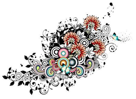 Gerber Flower and design element