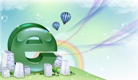 Internet Explorer symbol Illustration