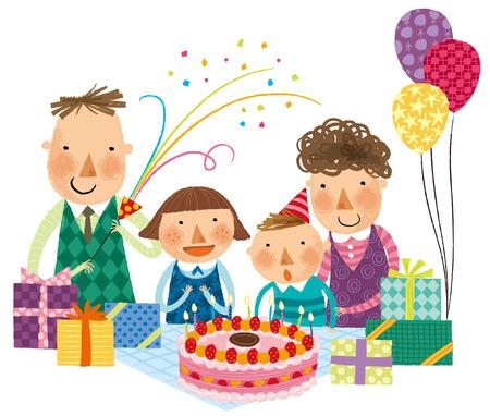 Happy birthday celebration Illustration