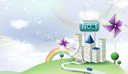 Technology Achievement Illustration