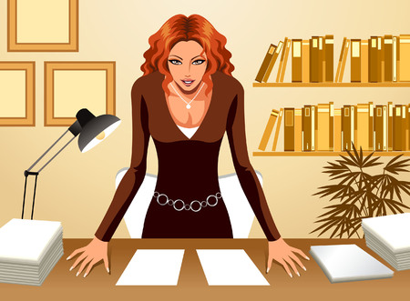 creative arts: Front view of Business Woman
