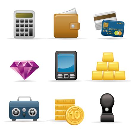 Finance Icon set Ilustração