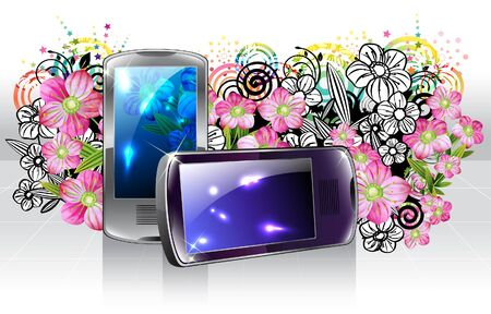 Mobile phone with flora design