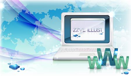 Computer laptop vector Ilustração