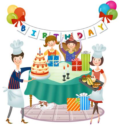Preparation of children birthday celebration