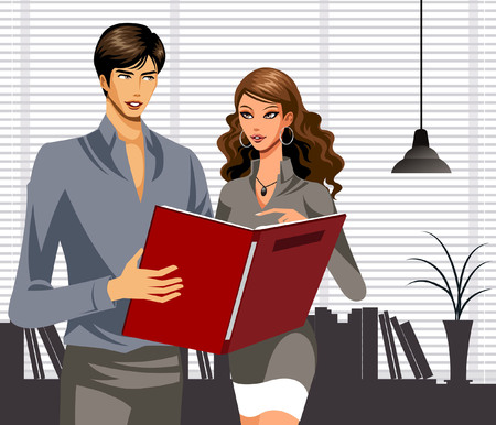 Business people working together in office Banco de Imagens - 78834527
