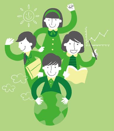 green environment concept
