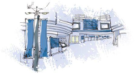 Street Exterior Ilustração