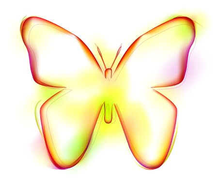 Butterfly shape on white background